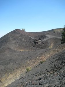 Volcanic rock on the Etna slopes