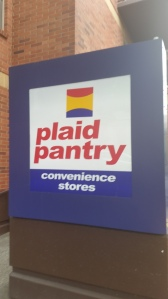 Even the stores are plaid